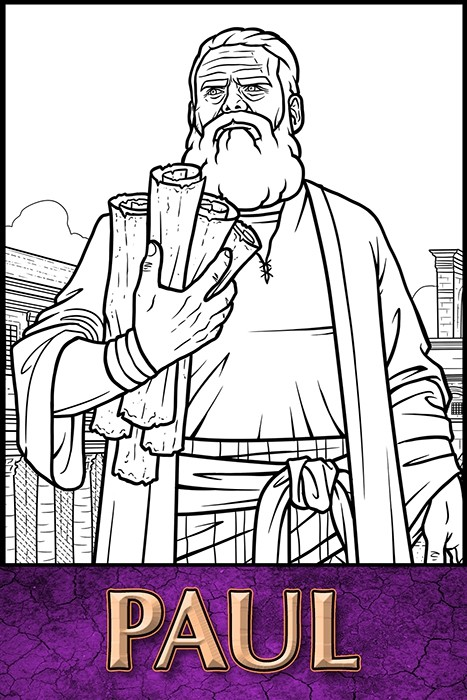 The Apostles of Jesus Christ: Paul Coloring Page