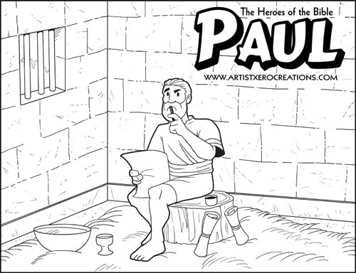 The Heroes of the Bible Coloring Pages: Paul