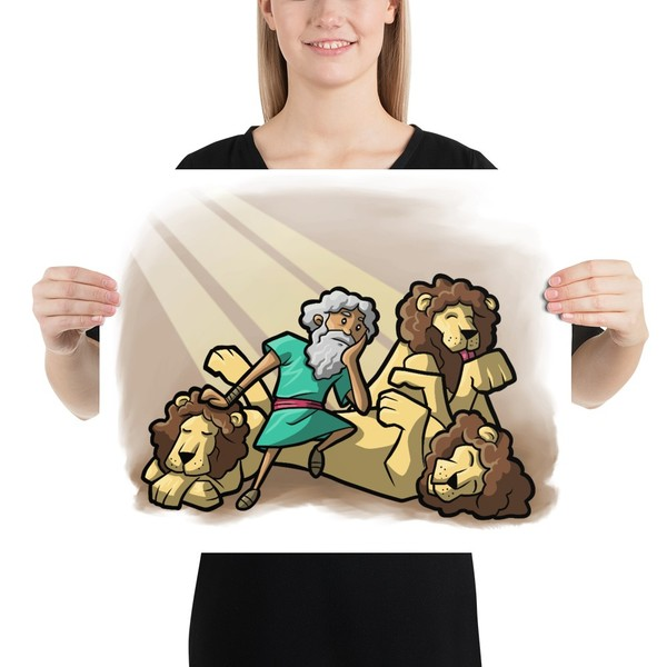 Daniel and the Lions Print