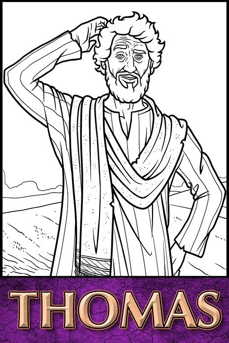 The Apostles of Jesus Christ: Thomas Coloring Page