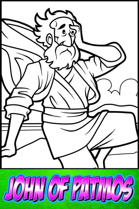 - The Heroes Of The Bible Coloring Pages: John Of Patmos - BibleHeroes.Art  Store