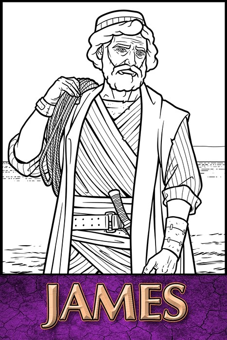 The Apostles of Jesus Christ: James Coloring Page