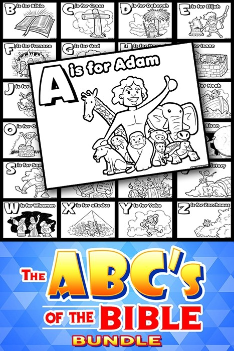 ABC's of the Bible Coloring Page