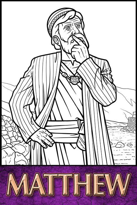 The Apostles of Jesus Christ: Matthew Coloring Page
