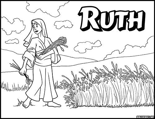 The Heroes Of The Bible Coloring Pages: Ruth - BibleHeroes.Art Store