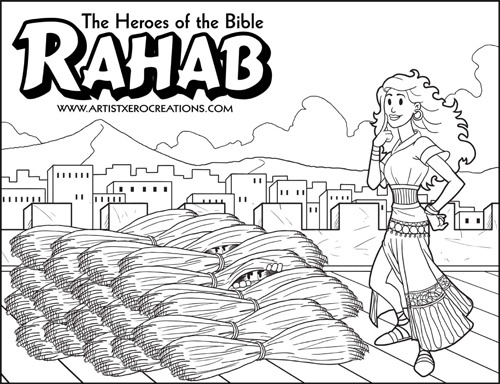 The Heroes of the Bible Coloring Pages: Rahab