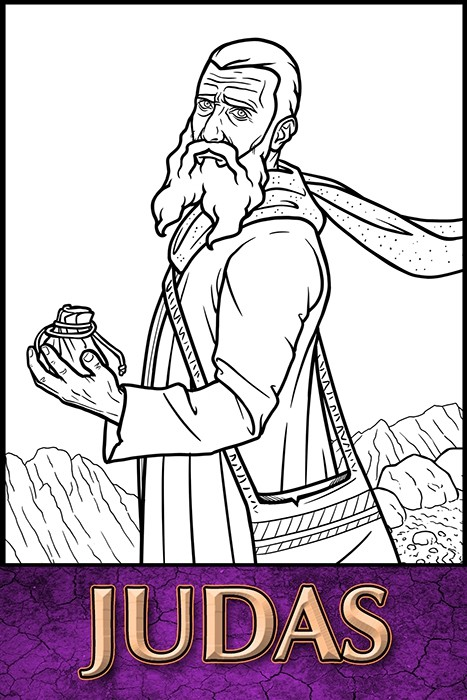 The Apostles of Jesus Christ: Judas Coloring Page