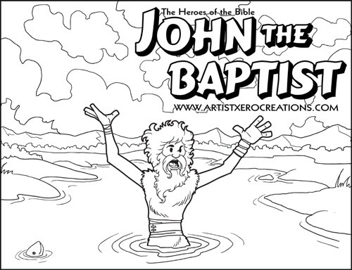 The Heroes of the Bible Coloring Pages: John the Baptist