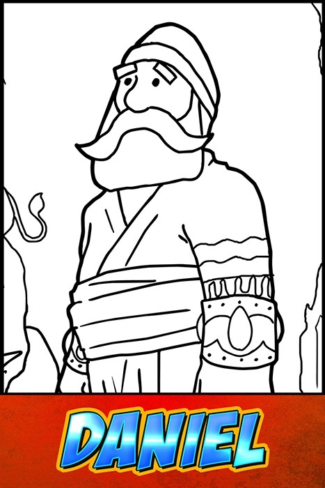 The Heroes of the Bible Coloring Pages: Daniel