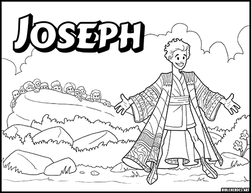 The Heroes Of The Bible Coloring Pages: Joseph - BibleHeroes.Art Store