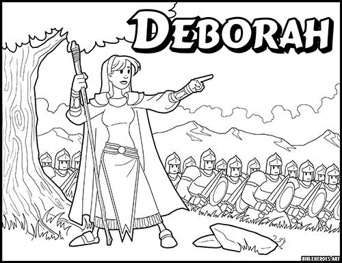 The Heroes Of The Bible Coloring Pages: Deborah - BibleHeroes.Art Store