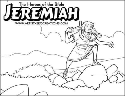 The Heroes of the Bible Coloring Pages: Jeremiah