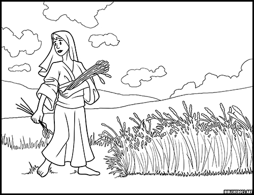 - The Heroes Of The Bible Coloring Pages: Ruth - BibleHeroes.Art Store