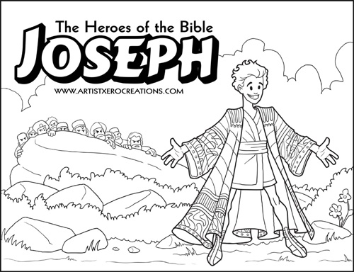 The Heroes of the Bible Coloring Pages Joseph