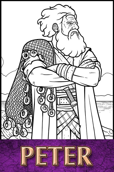 The Apostles of Jesus Christ: Peter Coloring Page