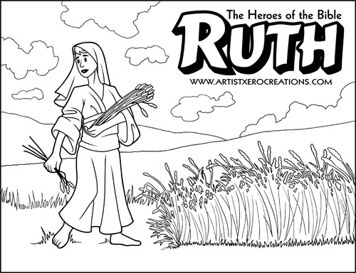 the heroes of the bible coloring pages ruth