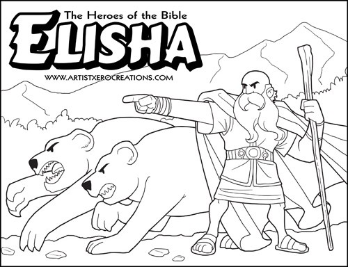 elisha coloring pages The Heroes of the Bible Coloring Pages: Elisha elisha coloring pages