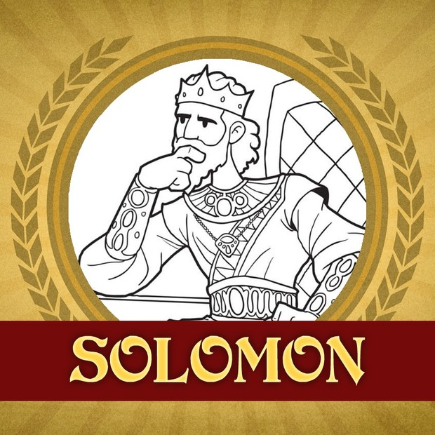 The Heroes of the Bible Coloring Pages: Solomon