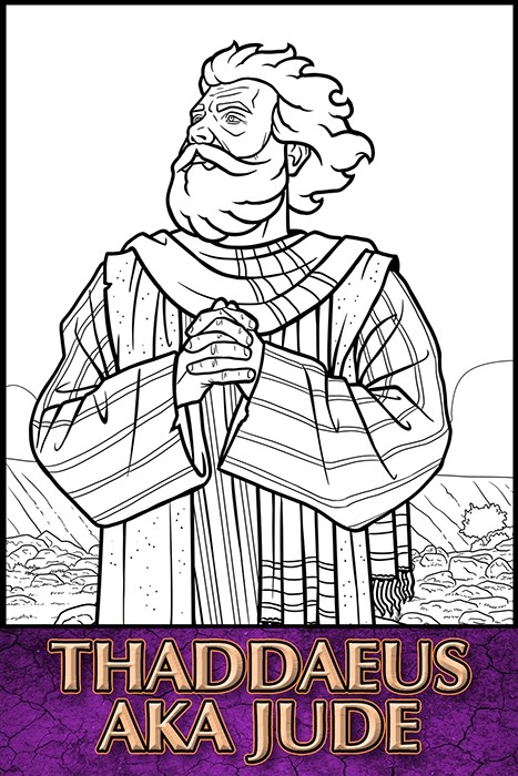 The Apostles of Jesus Christ: Thaddaeus aka Jude Coloring Page