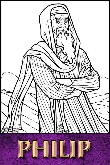 The Apostles of Jesus Christ: Philip Coloring Page