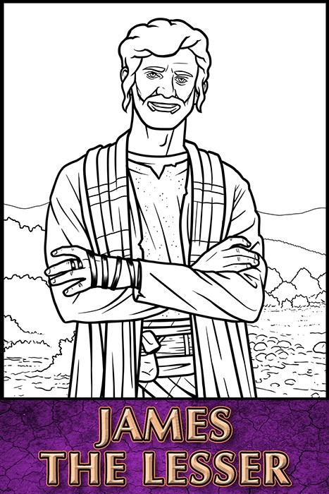The Apostles of Jesus Christ: James the Lesser Coloring Page