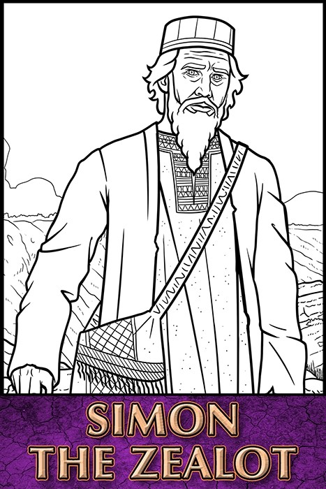 The Apostles of Jesus Christ: Simon the Zealot Coloring Page