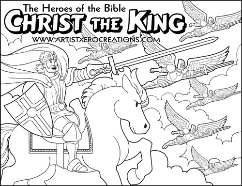 The Heroes of the Bible Coloring Pages: Christ the King
