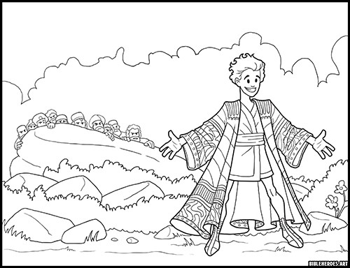The Heroes of the Bible Coloring Pages on Behance | 384x500