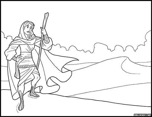 - The Heroes Of The Bible Coloring Pages: Miriam - BibleHeroes.Art Store