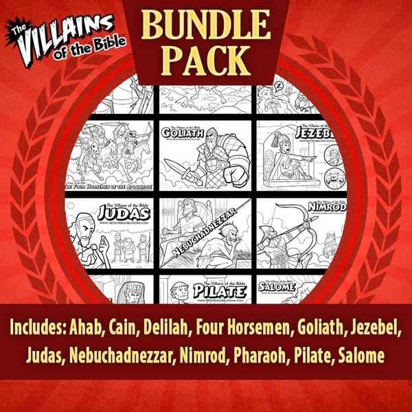 The Villains of the Bible Bundle Pack