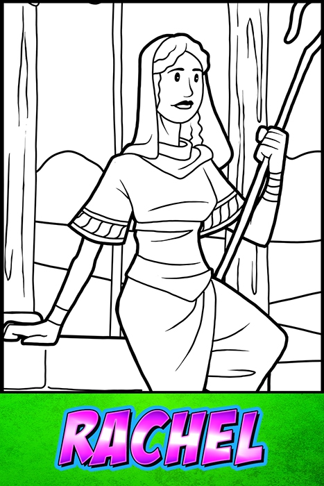 The Heroes Of The Bible Coloring Pages: Rachel - BibleHeroes.Art Store