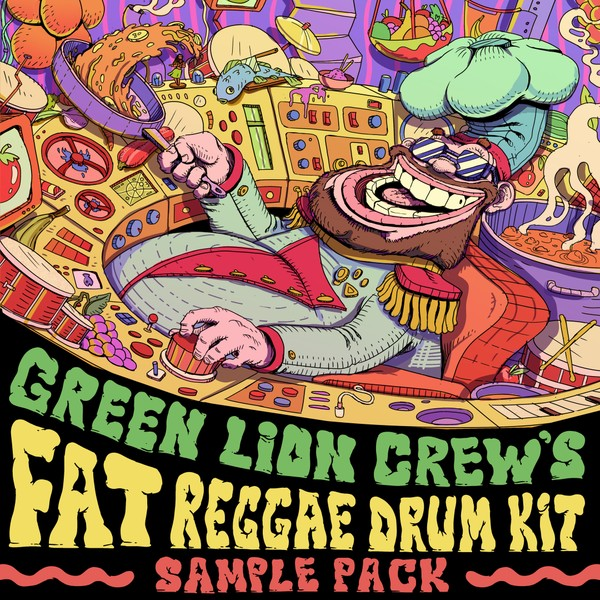 Green Lion Crew's FAT Reggae Drum Kit Sample Pack