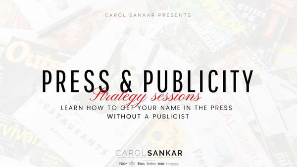 Press & Publicity 1:1 Strategy Session 2020