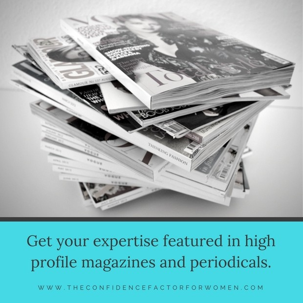 The Confidence Factor for Women: Get featured in major global magazines TODAY