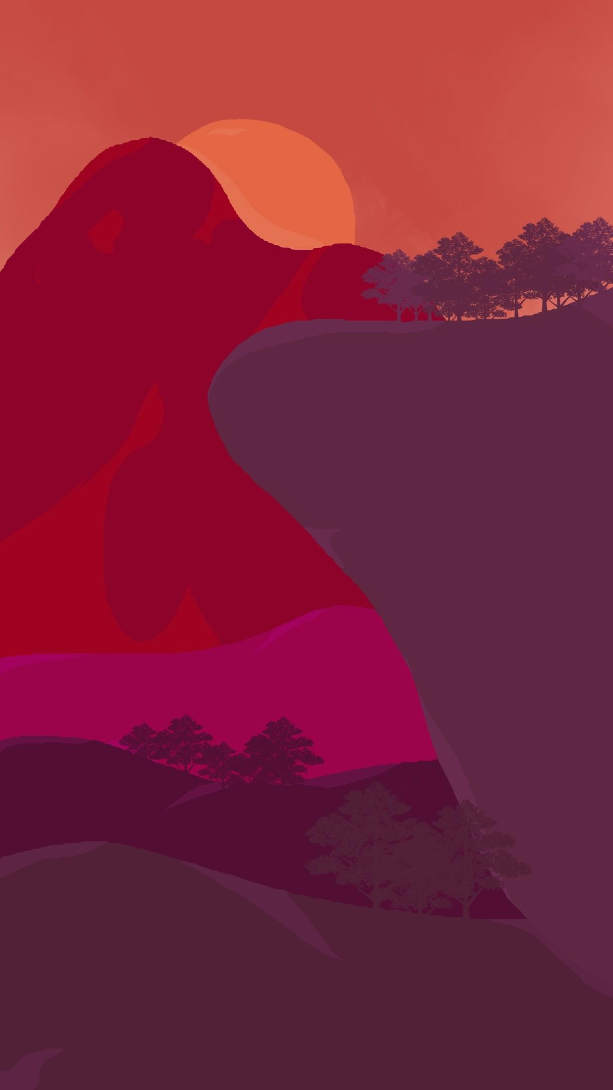 Sunset Wallpaper 4k 2160x3480