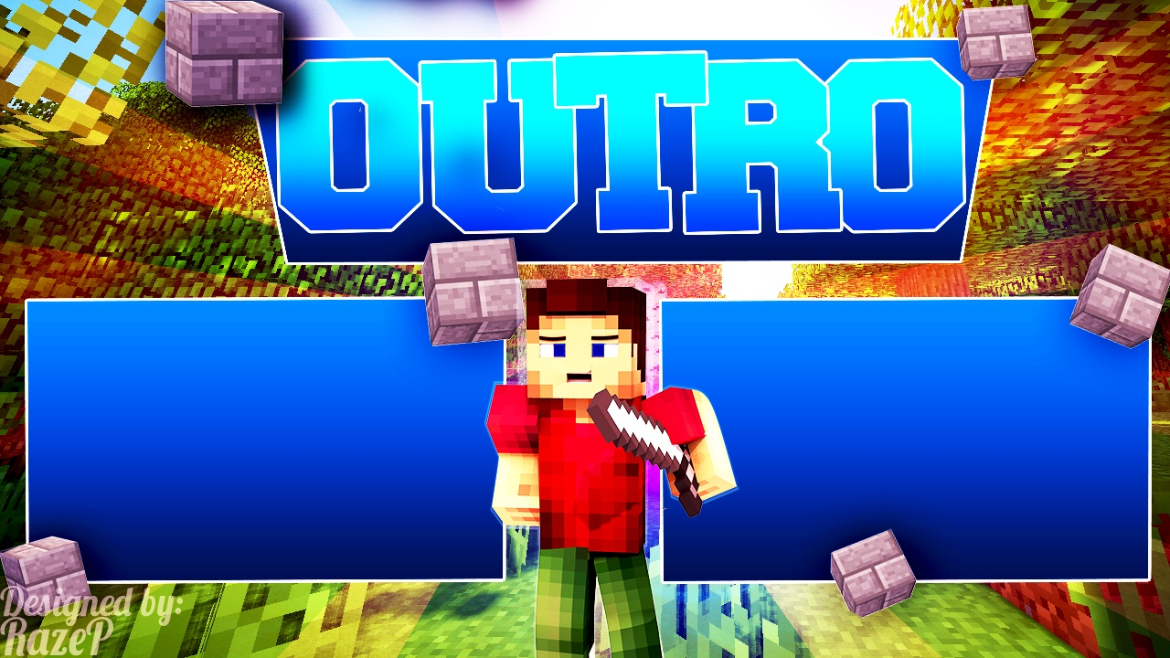 3d minecraft outro razeplays for Minecraft outro template movie maker
