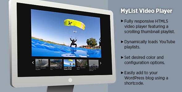 MyList Video Player - WordPress Plugin
