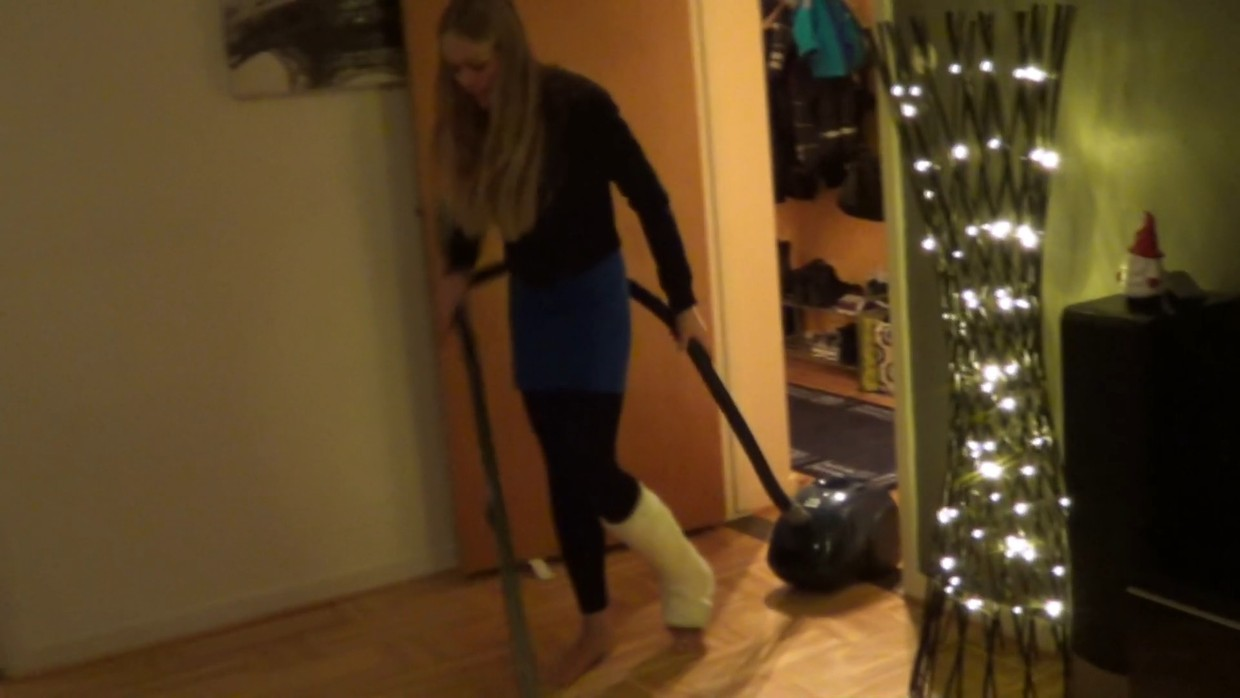 Rose Term SLC - Hopping around on one leg and cleaning my apartment - 9 min