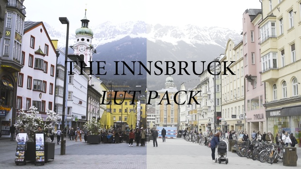 5 CINEMATIC LUTs for Sony A7s // Cine 4 // S-Gamut  (INNSBRUCK)