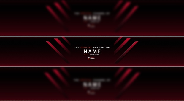 RED Free Youtube Banner Templates - Maxence