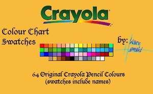 Crayola Pencils - 64 Swatches
