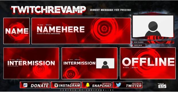 Retro RED (Social Revamp Pack)