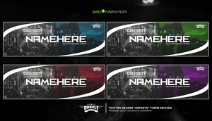 CoD (Twitter Header - Multi Coulours Pack)