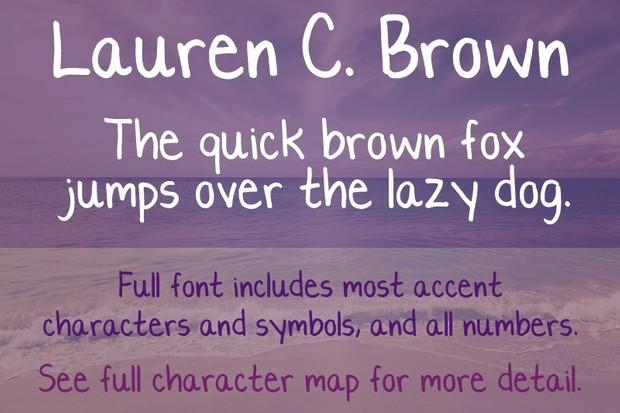 Lauren C. Brown Font - General Commercial License
