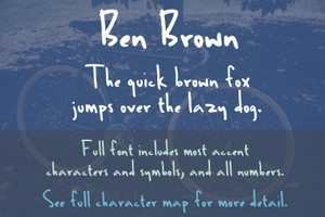 Ben Brown Font - General Commercial License