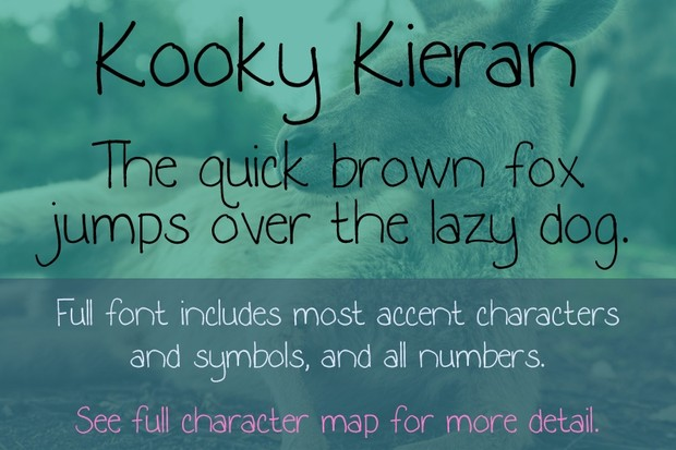 Kooky Kieran and Kooky Kieran Hearts Fonts - General Commercial License