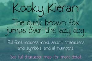 Kooky Kieran Font - General Commercial License