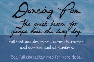 Dancing Pam Font - General Commercial License
