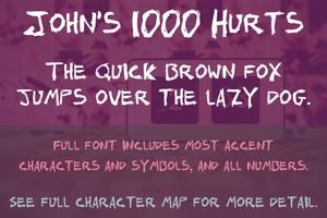 John's 1000 Hurts Font - General Commercial License