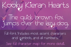 Kooky Kieran Hearts Font - General Commercial License